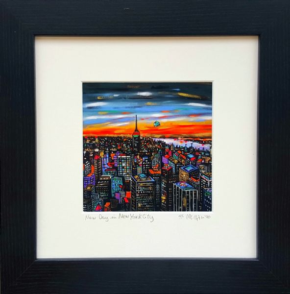 New Day in New York City, hand finished giclee